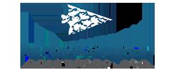 arrowhead solutions logo, blue and gray