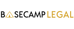 basecamp legel logo, black and yellow