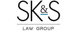 skands legal logo black and teal